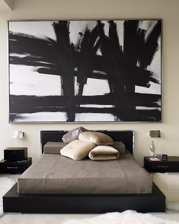 Grande quadro pannello retro letto parete wevux scuola di interni franci nf arts design wevux - Quadro testata letto ...